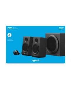 Logitech Z333 kõlarikomplekt 2.1 kanalid 40 W Must