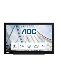 "AOC 01 Series I1601FWUX PC lamekuvar 39,6 cm (15.6"") 1920 x 1080 pikslit Full HD LED Must"