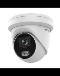 Hikvision IP Dome Camera DS-2CD2347G2-LU Dome, 4 MP, F2.8, IP67, H.265+, Micro SD/SDHC/SDXC, Max. 256 GB, White, ColorVu / AcuSense technologies, 256 GB, 109 °