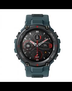 Amazfit T-Rex Pro Smart watch, GPS (satellite), AMOLED Display, Touchscreen, Heart rate monitor, Activity monitoring 24/7, Waterproof, Bluetooth,  Steel Blue
