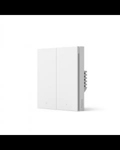 Aqara Smart wall switch H1 (no neutral, double rocker) WS-EUK02 White