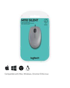 Logitech M110 hiir USB tüüp A Optiline 1000 DPI Mõlemakäeline