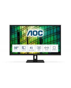 """AOC E2 Q32E2N LED display 80 cm (31.5"""") 2560 x 1440 pikslit Quad HD Must"""