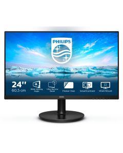"Philips V Line 241V8L/00 LED display 60,5 cm (23.8"") 1920 x 1080 pikslit Full HD Must"