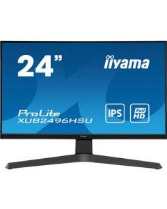 "iiyama ProLite XUB2496HSU-B1 LED display 60,5 cm (23.8"") 1920 x 1080 pikslit Full HD Must"