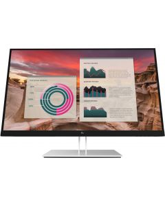 "HP E27u G4 68,6 cm (27"") 2560 x 1440 pikslit Quad HD Must, Hõbe"