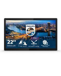 "Philips B Line 222B1TFL/00 puutetundlik monitor 54,6 cm (21.5"") 1920 x 1080 pikslit Mitmikpuude Must"