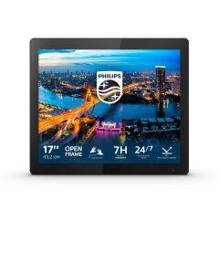 "Philips B Line 172B1TFL/00 puutetundlik monitor 43,2 cm (17"") 1280 x 1024 pikslit Mitmikpuude Must"