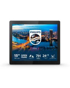 "Philips B Line 152B1TFL/00 puutetundlik monitor 38,1 cm (15"") 1024 x 768 pikslit Mitmikpuude Must"