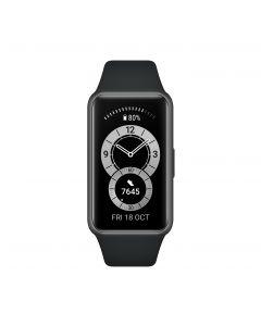 Huawei Band 6 Smart watch, AMOLED, Touchscreen, Heart rate monitor, Activity monitoring 24/7, Waterproof, Graphite Black