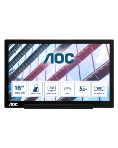"AOC 01 Series I1601P PC lamekuvar 39,6 cm (15.6"") Must"