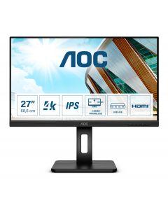 "AOC U27P2CA PC lamekuvar 68,6 cm (27"") 3840 x 2160 pikslit 4K Ultra HD LED Must"