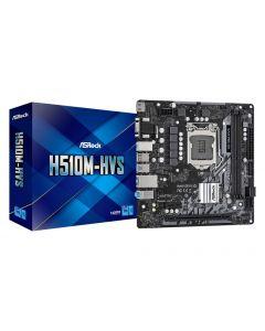 Mainboard|ASROCK|Intel H510|LGA1200|MicroATX|1xPCI-Express 3.0 1x|1xPCI-Express 4.0 16x|Memory DDR4|Memory slots 2|1x15pin D-sub