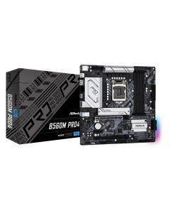 Mainboard|ASROCK|Intel B560|LGA1200|MicroATX|Memory DDR4|Memory slots 4|2xPCI-Express 16x|1xPCI-Express 3.0 1x|1xM.2|1xHDMI|1xDi
